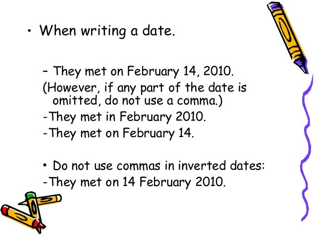 how to write multiple dates in a sentence