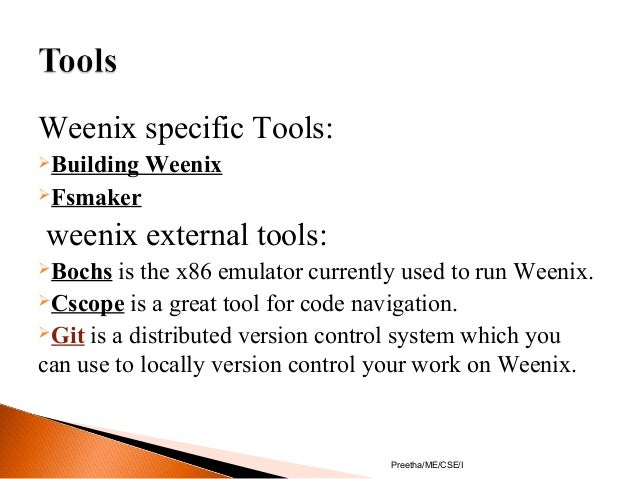 Educational operating system-Minix&Weenix