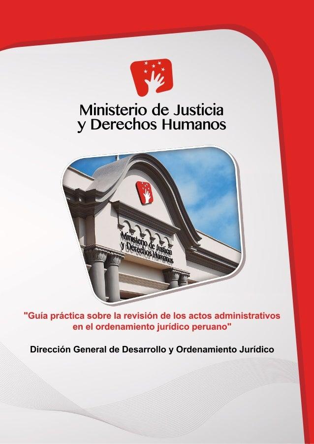 """Dirección General de Desarrollo y Ordenamiento Jurídico """"Guía práctica sobre la revisión de los actos administrativos en e..."""