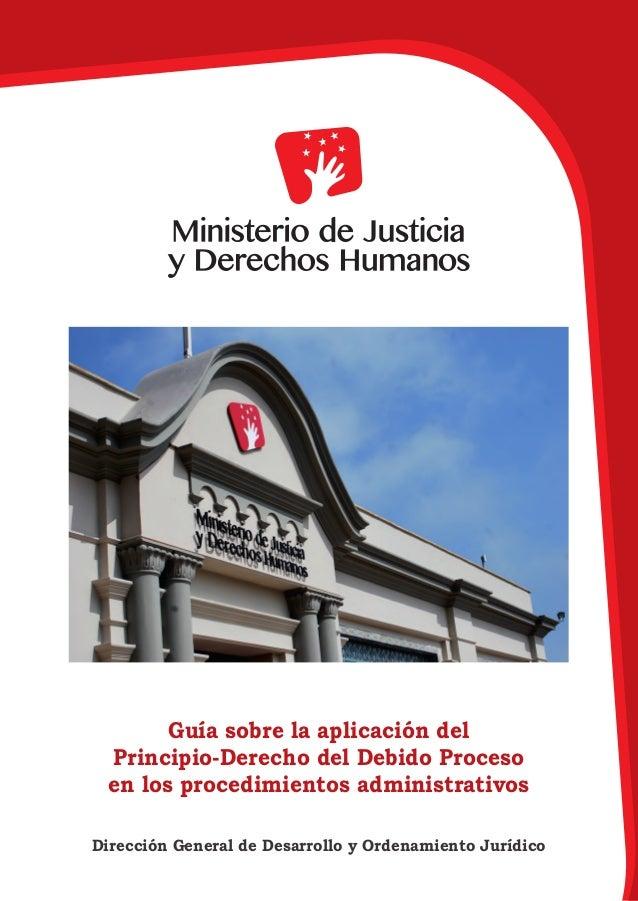 Guía sobre la aplicación del Principio-Derecho del Debido Proceso en los procedimientos administrativos Dirección General ...