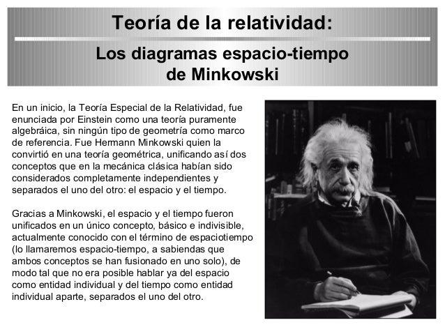 Teoría de la relatividad:<br /> Los diagramas espacio-tiempo<br /> de <a href=