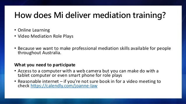 Mi NMAS mediator training