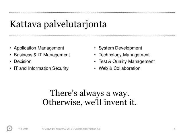 Testaus 2014 -seminaari. Minna Aalto, Knowit, Vuoden Testaaja 2013