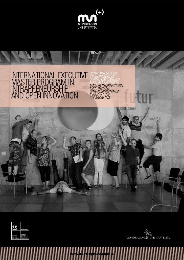 International Executive INTRAEKINTZAILETZA                        ETA BERRIKUNTZAMaster Program in                        ...