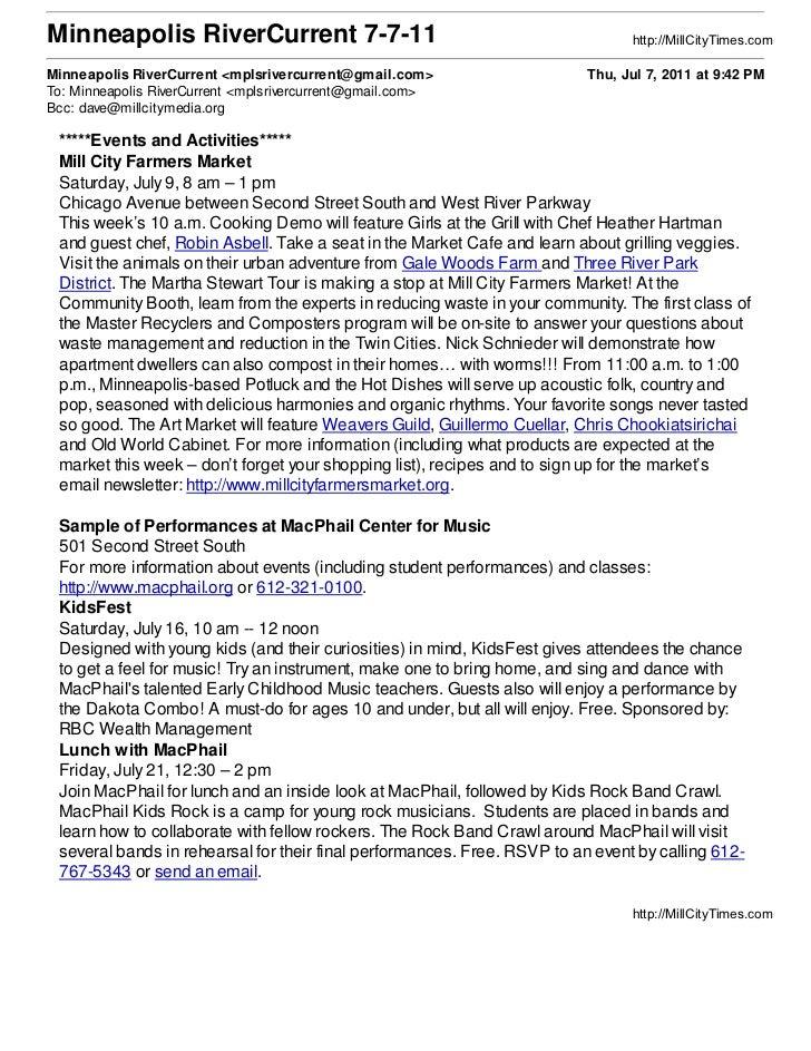 Minneapolis RiverCurrent 7-7-11                                                 http://MillCityTimes.comMinneapolis RiverC...