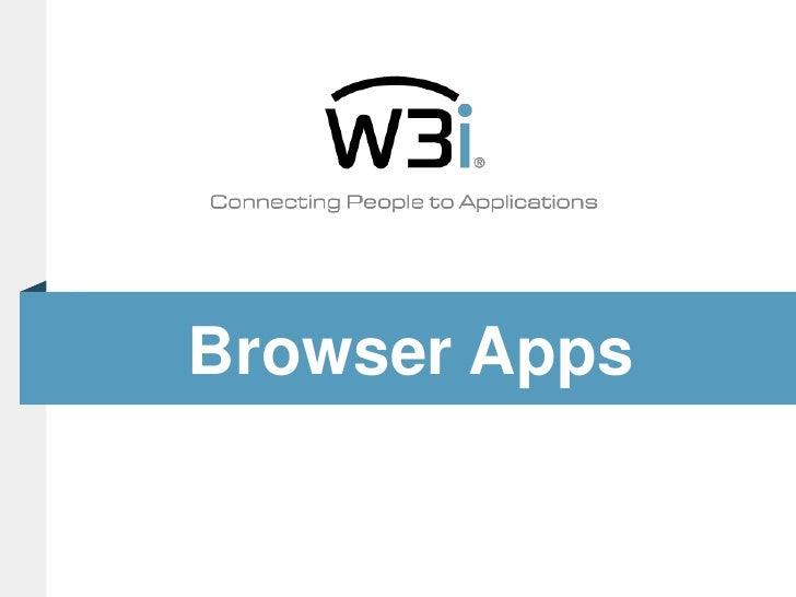 Browser Apps<br />