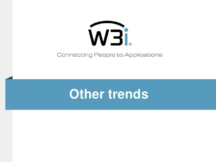 Other trends<br />