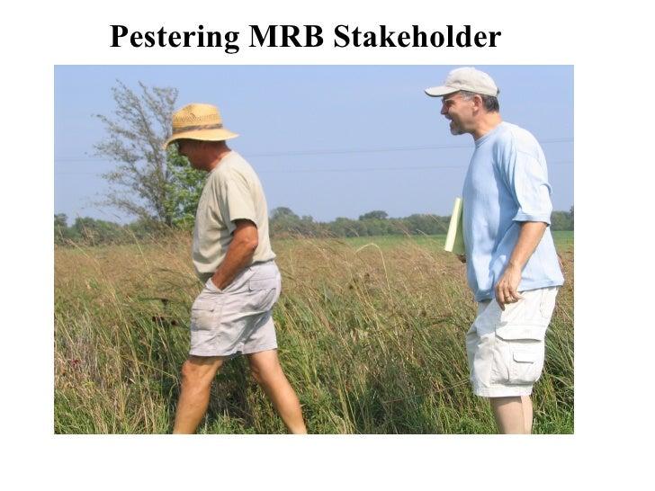 Pestering MRB Stakeholder
