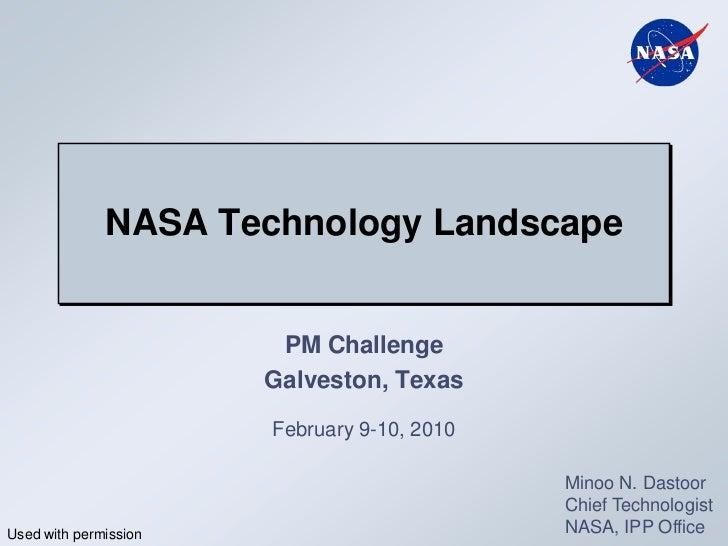 NASA Technology Landscape                        PM Challenge                       Galveston, Texas                      ...
