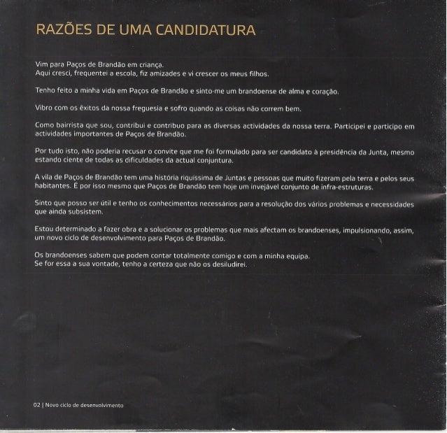 Programa eleitoral  2009