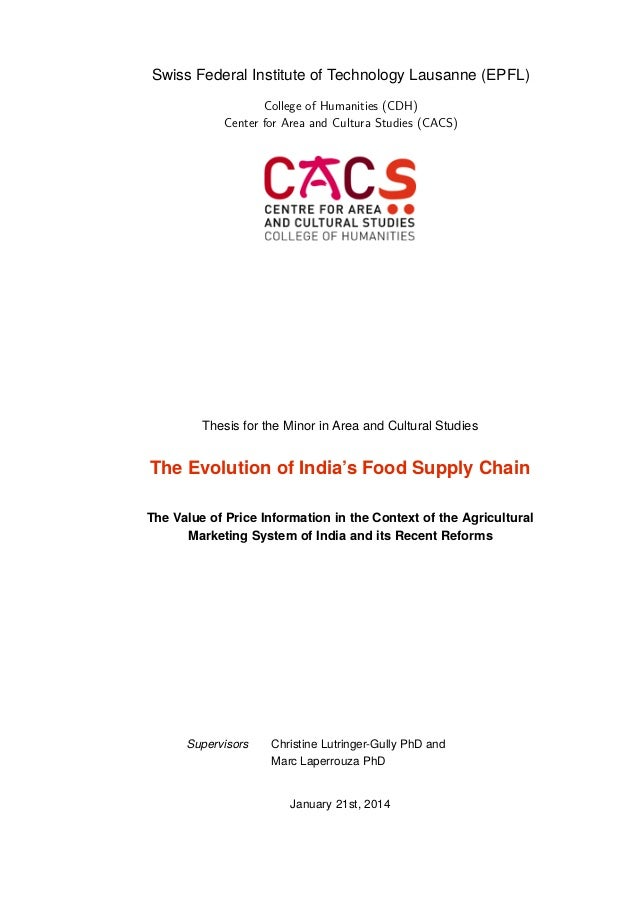 Food supply chain phd thesis
