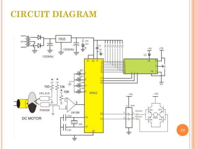 Tachometer using at89s52 microcontroller with motor control circuit diagram 20 ccuart Image collections