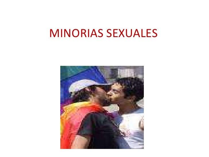 MINORIAS SEXUALES