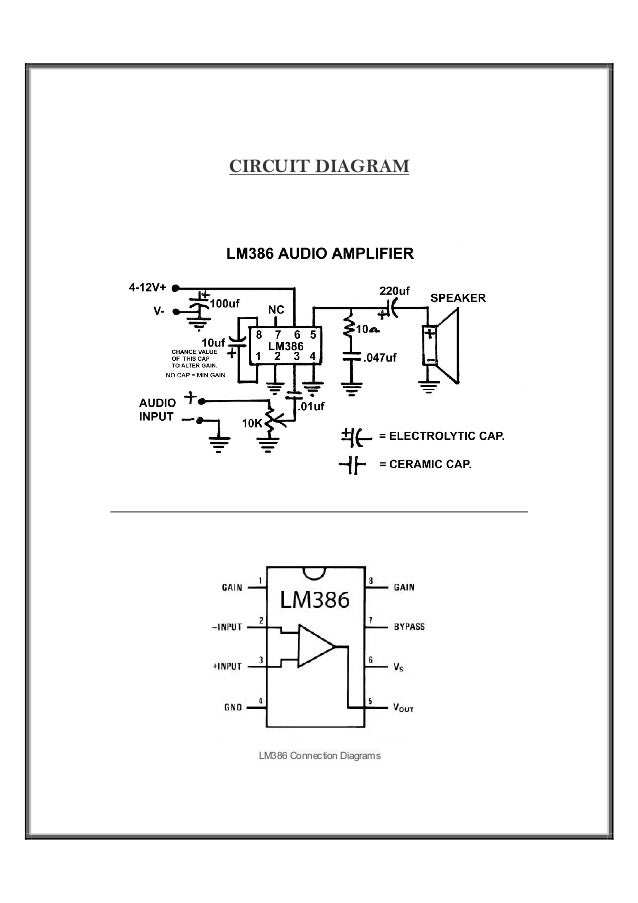 Fabrication Of Low Power Audio Amplifier Using IC LM386