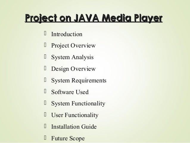JAVA Media Player Slide 2