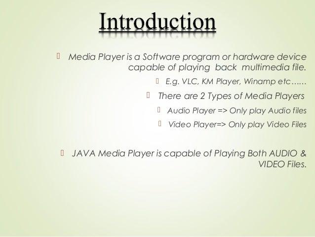 JAVA Media Player Slide 3