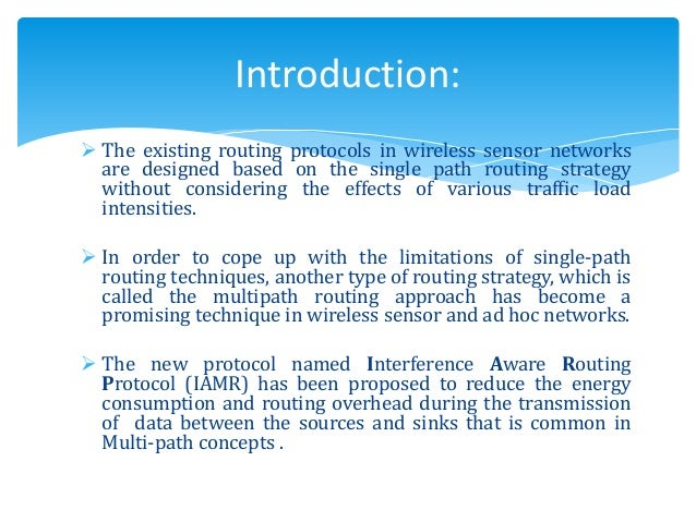 Ppt on energy efficient routing protocol for wireless sensor.