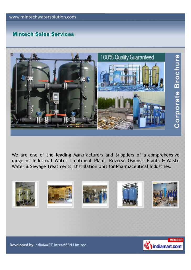 We are one of the leading Manufacturers and Suppliers of a comprehensiverange of Industrial Water Treatment Plant, Reverse...
