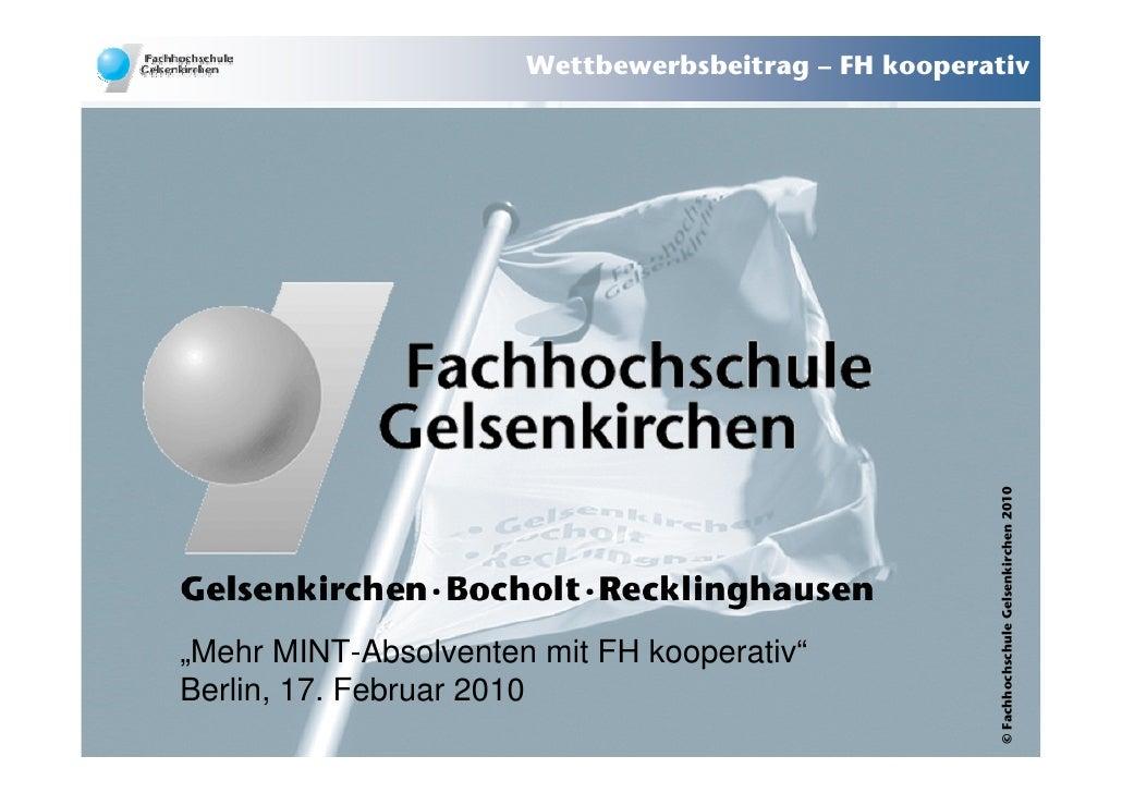Wettbewerbsbeitrag – FH kooperativ                                                           © Fachhochschule Gelsenkirche...