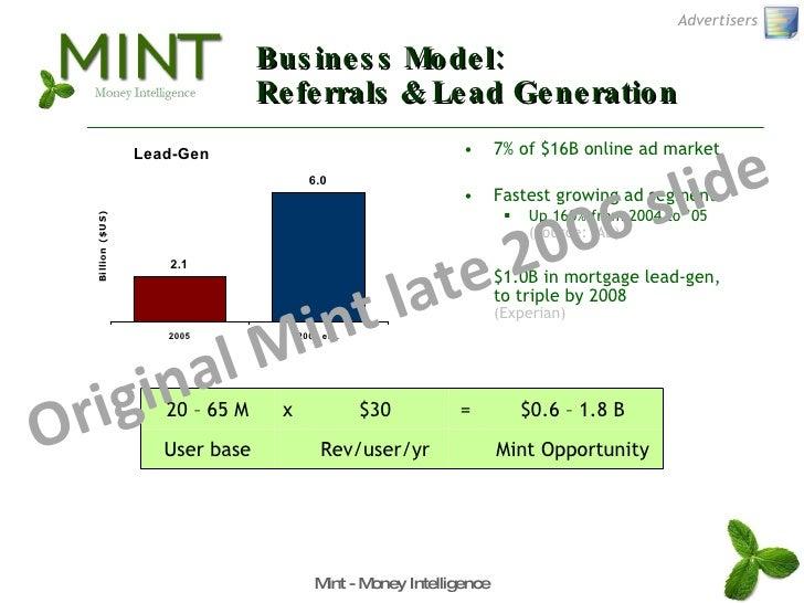 Business Model: Referrals & Lead Generation <ul><li>7% of $16B online ad market </li></ul><ul><li>Fastest growing ad segme...