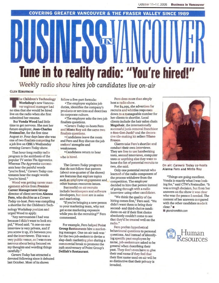 """Tune in to reality radio: """"You're hired!"""""""