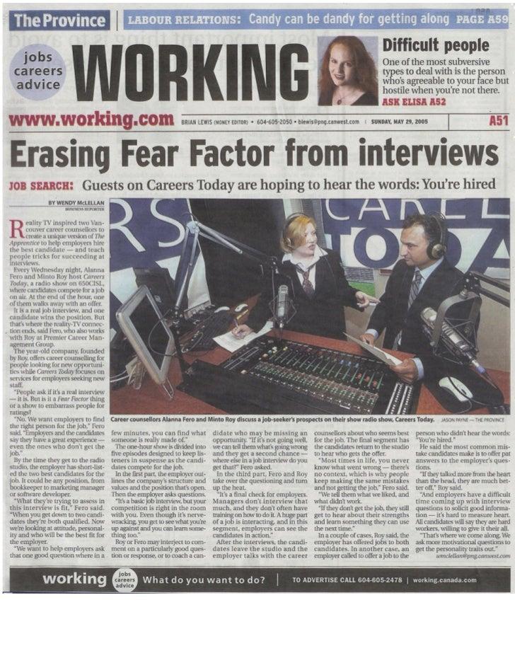 Erasing Fear Factor from Interviews