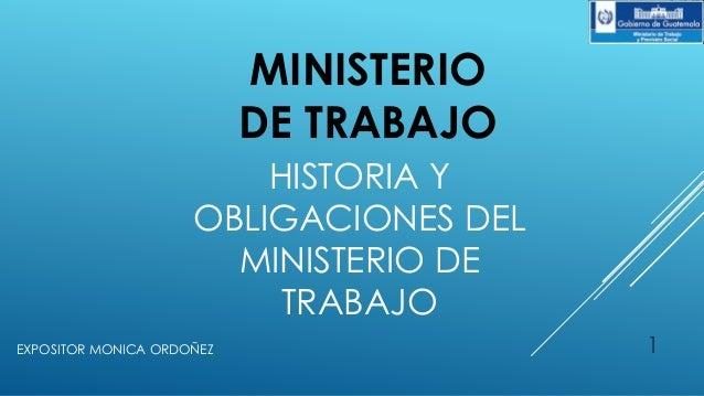 Ministerio de trabajo de guatemala for Ministerio del interior empleo