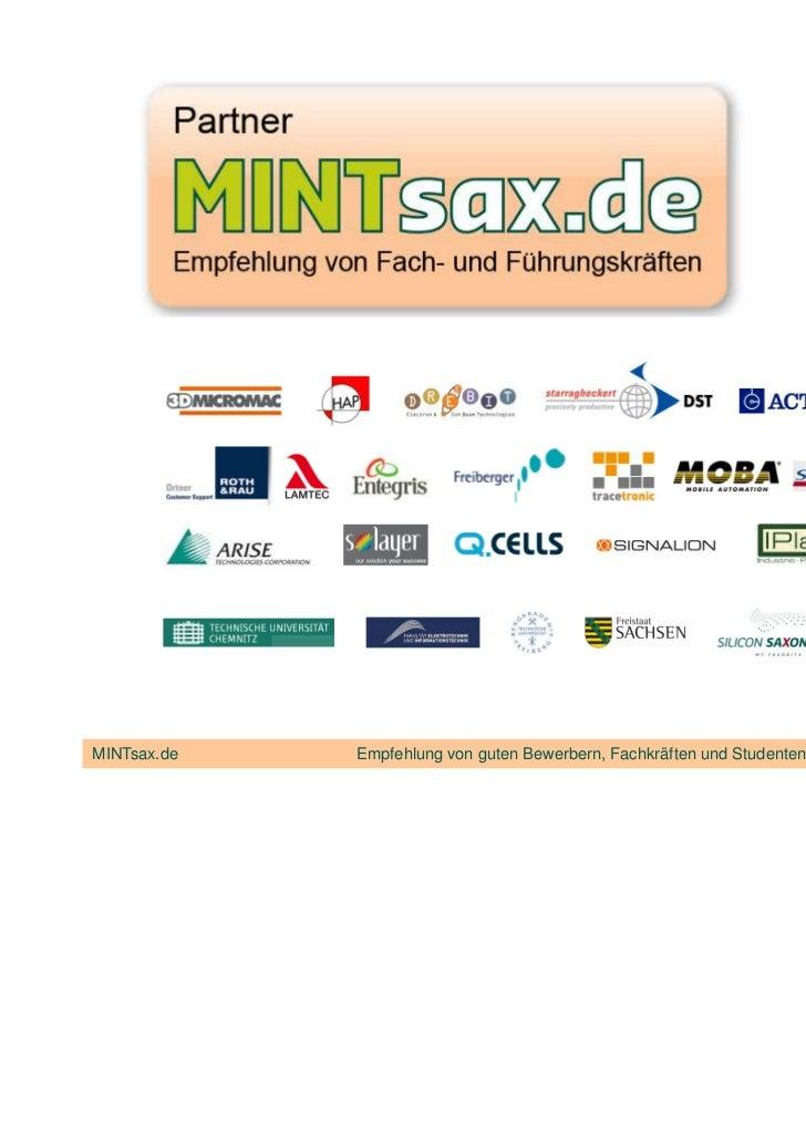 MINTsax.de   Empfehlung von guten Bewerbern, Fachkräften und Studenten in Sachsen und Sachsen-Anhalt