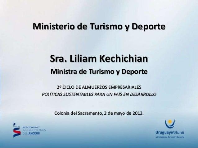 Ministerio de turismo y deporte presentaci n en foro for Ministerio del turismo