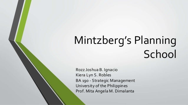 strategic planning mintzberg It was a world of strategy planning weekends at posh hotels in the english  countryside, where we sat in rooms discussing the 5 forces in our.