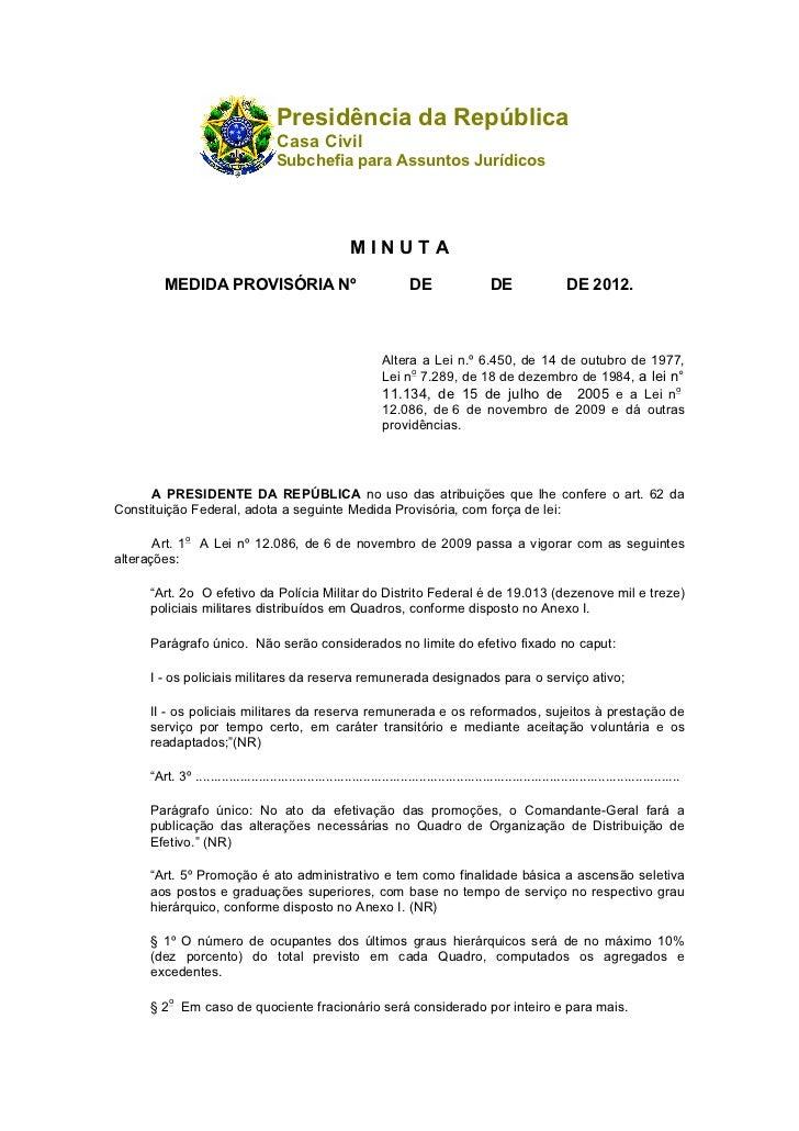 Presidência da República                                       Casa Civil                                       Subchefia ...