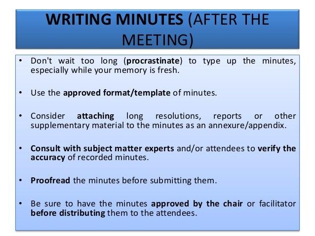 MEMORANDUM FORMAT; 56.  Minutes Taking Format