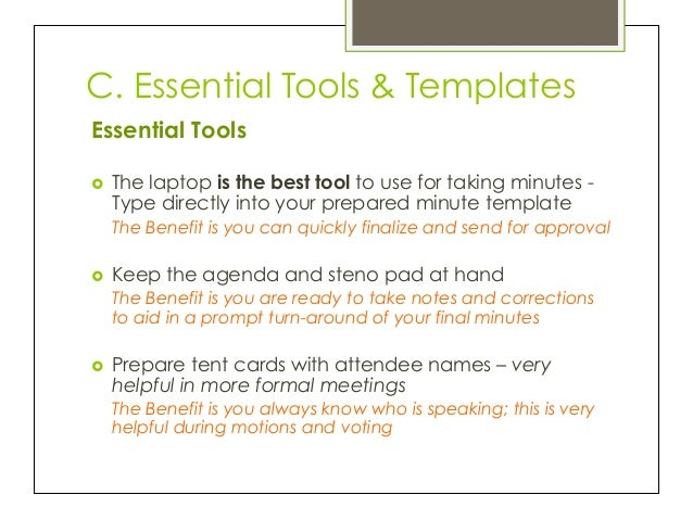 Minute by Minute Learning the Skill of Taking Meeting Minutes – Template for Taking Minutes