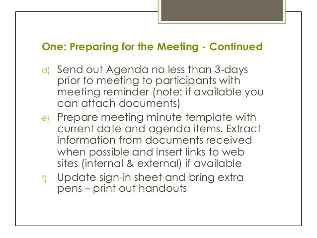 Minute By Minute Learning The Skill Of Taking Meeting Minutes
