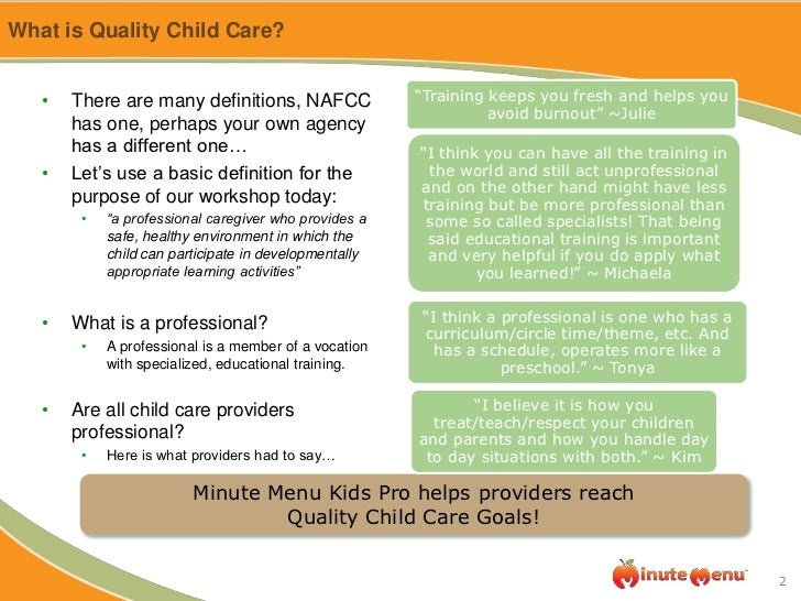 What is a child care provider?