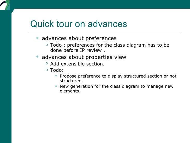 Quick tour on advances <ul><ul><li>advances about preferences </li></ul></ul><ul><ul><ul><li>Todo : preferences for the cl...