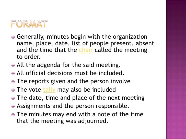 how to make meeting minutes