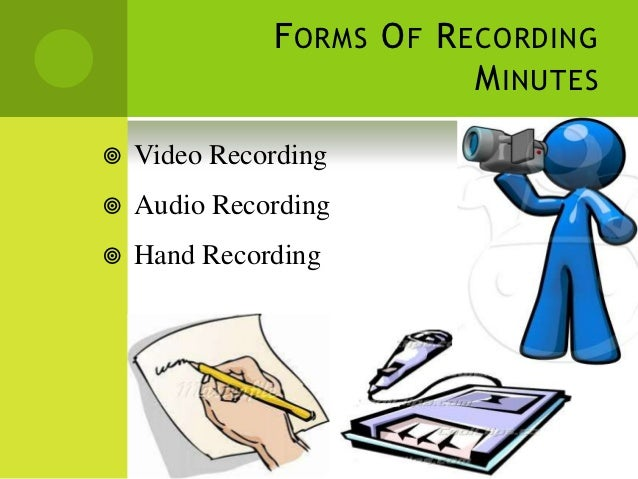 recording minutes