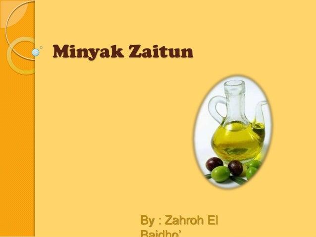 Minyak Zaitun Ppt