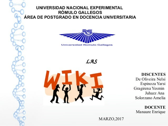 UNIVERSIDAD NACIONAL EXPERIMENTAL RÓMULO GALLEGOS ÁREA DE POSTGRADO EN DOCENCIA UNIVERSITARIA LAS DISCENTES De Oliveira ...