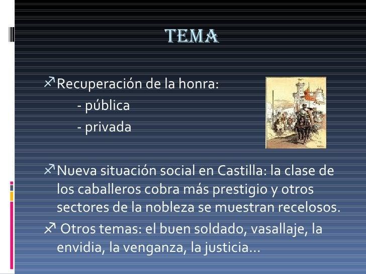 TEMA <ul><li>Recuperación de la honra: </li></ul><ul><li>- pública </li></ul><ul><li>- privada </li></ul><ul><li>Nueva sit...