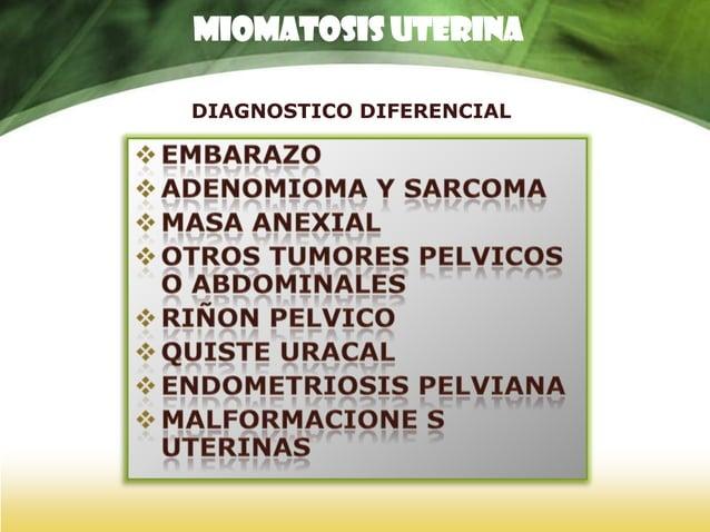 CLÍNICA  COMPLICACIONES OBSTÉTRICAS I • ABORTOS ESPONTÁNEOS – Más frecuentes en miomas submucosos • AMENAZA DE ABORTO • D...