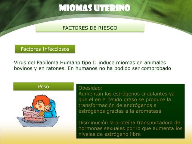 Miomas UTERINO FACTORES DE RIESGO TABACO Anticonceptivos Orales Mujeres fumadoras reducción de la incidencia Disminución d...