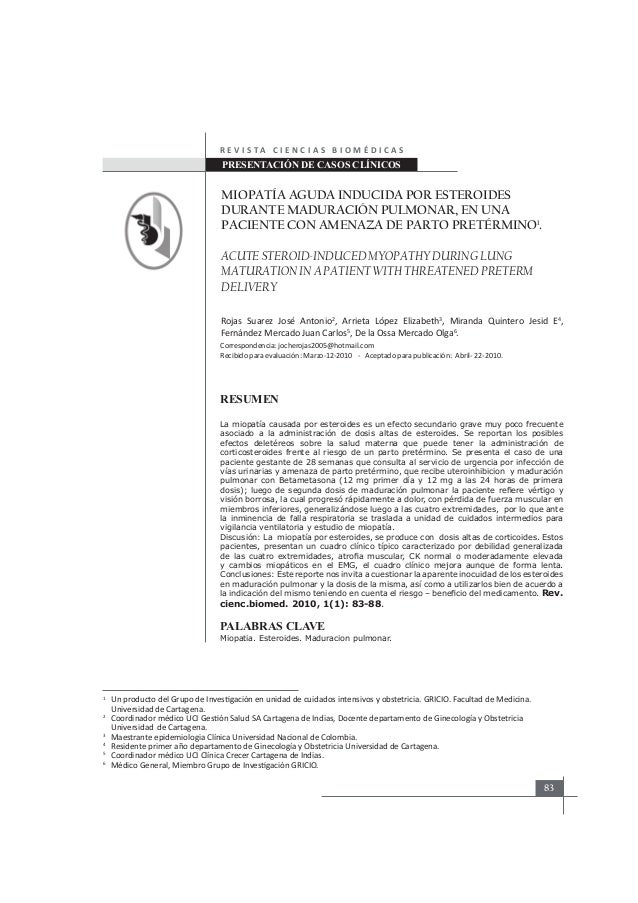 steroid-induced myopathy emg findings