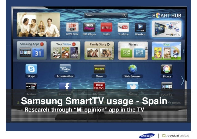 91% of Samsung Smart TV users in Spain use specific applications for …