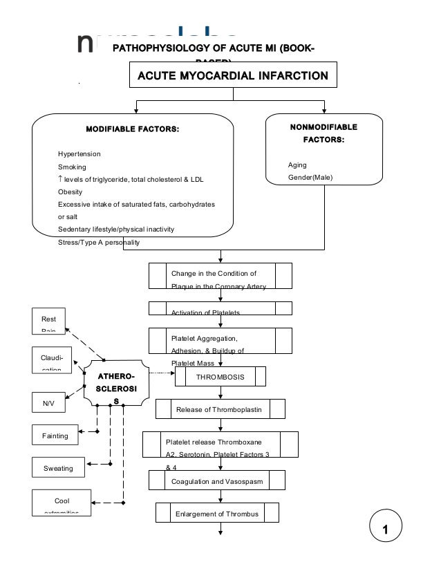 pathophysiology of myocardial infarction The sns is activated in response to the decreased systemic blood pressure (bp) and the subsequent stimulation of the baroreceptor complex [20 x [20] sutton, mg and sharpe, n left ventricular remodeling after myocardial infarction: pathophysiology and therapy.