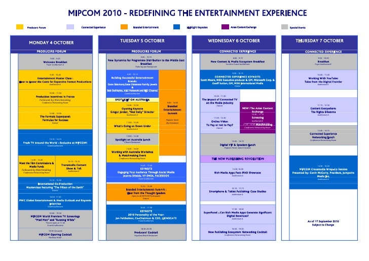 MIPCOM 2010 - REDEFINING THE ENTERTAINMENT EXPERIENCE       Producers Forum                                              C...