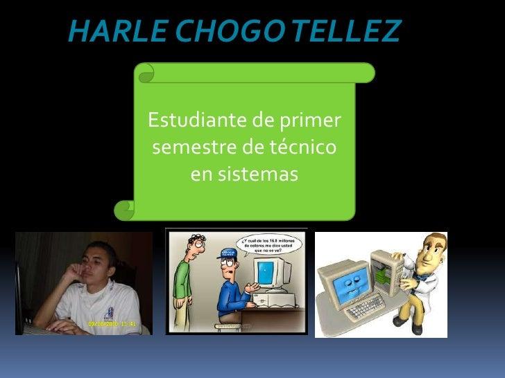 HARLE CHOGO TELLEZ <br />Estudiante de primer semestre de técnico en sistemas <br />