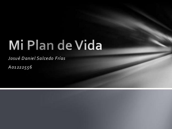 Josué Daniel Salcedo Frías<br />A01222556<br />Mi Plan de Vida<br />