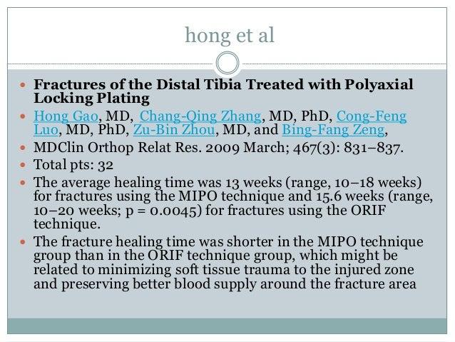Minimally invasive plate osteosynthesis